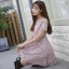 ชุดเดรสMyStyle Lace Dress สีชมพู thumbnail 2
