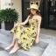 ชุดเดรส Pineapple X Cross Midi Dress สีเหลือง thumbnail 1