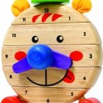 นาฬิกาหรรษา ของเล่นเสริมสร้างการเล่นรู้ ของเล่นฝึกสมอง เกมส์ไม้