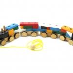 รถไฟมหาสนุก ของเล่นเสริมพัฒนาการ บล๊อคไม้ ตัวต่อไม้ Wooden Game