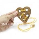 หัวใจร้อยรัก(เหลือง) ของเล่นเสริมสร้างการเรียนรู้ ของเล่นฝึกสมอง