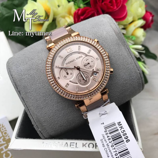 4f0ddd225c4 MICHAEL KORS Parker Blush Dial Ladies Watch MK5896   Inspired by ...