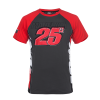 T-SHIRT MAVERICK 25 BLACK RED